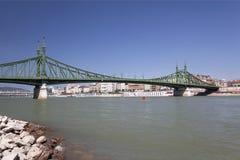 Liberty Bridge over Danube river in Budapest Stock Image