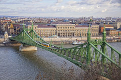 Liberty Bridge over Danube river in Budapest Stock Photography