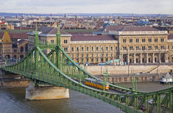 Liberty Bridge over Dunabe river in Budapest, Hungary Stock Images