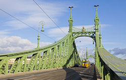 Liberty Bridge over Dunabe river in Budapest, Hungary Royalty Free Stock Photos