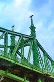 Liberty Bridge or Szabadsag in Budapest, Hungary. Stock Photos