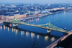 Liberty Bridgeand Danube River Royalty Free Stock Photo