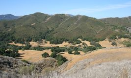 Liberty Canyon Panorama. View of hills, fields and sky, Liberty Canyon, Malibu, CA Stock Photo