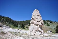 Liberty Cap - Yellowstone National Park Stock Photography