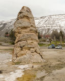 Liberty Cap In Yellowstone National Park Stock Images