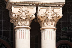 Liberty colunms detail. Detail of two liberty columns corinthian style replica royalty free stock image