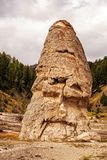 Liberty Cone. Inactive geyser cone in Yellowstone National Park royalty free stock photos