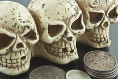 Liberty or Death Skulls Royalty Free Stock Images