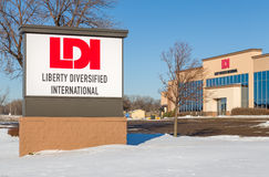 Liberty Diversified International Headquarters and Sign Stock Photography