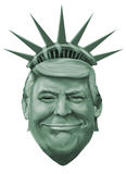 Liberty and Donald Trump illustration Stock Images