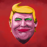Liberty and Donald Trump illustration royalty free illustration