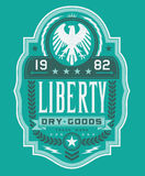 Liberty Dry Goods Label Royaltyfria Bilder