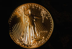 1999 Liberty Eagle Gold Coin de marche Photos libres de droits