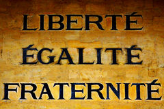 Liberty, Equality and Fraternity. The motto of French Revolution vector illustration