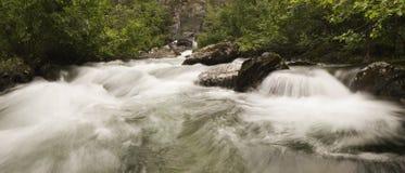 Liberty Falls cascade water. Liberty Falls creek, Alaska Royalty Free Stock Images