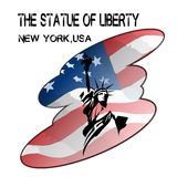 Liberty With Flag Lizenzfreies Stockbild