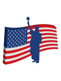 Liberty Flag of america Stock Image
