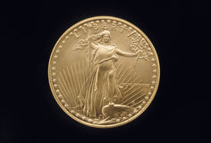 Liberty Gold Coin Stock Photography