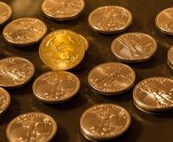 Liberty Gold Eagle one ounce coin stock photography