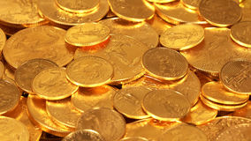 Liberty Gold Eagle one ounce coins Stock Photo