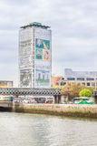 Liberty Hall building and the Liffey river Royalty Free Stock Image