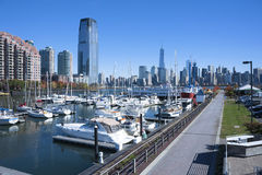 Free Liberty Harbor Marina New Jersey City Royalty Free Stock Photo - 46819815