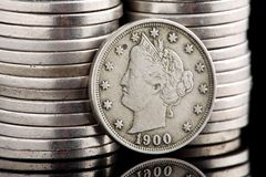 Liberty Head Nickel Stock Photography