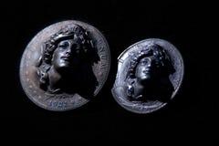 Liberty Head Silver Coins Stock Photo