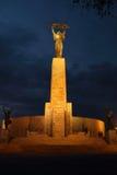 Liberty Hill på natten i Budapest Fotografering för Bildbyråer