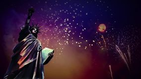 Liberty Illustrated Fireworks illustration de vecteur