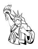 Liberty. Illustrator desain .eps 10 Royalty Free Stock Photography