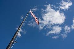 Liberty Island American Flag stock photos