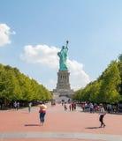 Liberty Island - estátua da liberdade Fotos de Stock Royalty Free