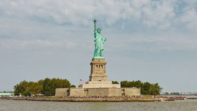 Liberty Island, New York. Liberty Island and the Statue of Liberty, New York royalty free stock photography