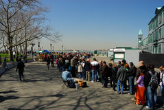 Liberty Island Trip waiting line Royalty Free Stock Photography