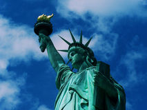 Liberty and Justice for All. Lady Liberty at her finest on a clear summer day Royalty Free Stock Photography