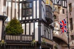 Liberty Of London fasaddetalj arkivfoton