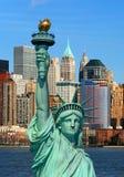 liberty Manhattan skyline posąg obrazy royalty free