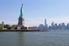 Liberty and Manhattan Royalty Free Stock Images