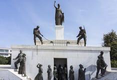 Liberty Monument, Nicosia, Cyprus. The Liberty Monument on Podocatro Bastion walls, Nicosia, Cyprus royalty free stock photo