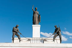 Liberty monument statues. Stock Image