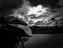 Liberty. Motorcicle road guatemala city royalty free stock photography