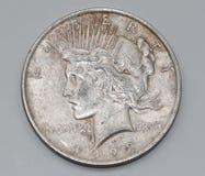 Liberty Peace Dollar 1923 Images libres de droits