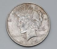 1923 Liberty Peace Dollar Royalty Free Stock Images