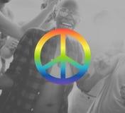 Liberty Protest Symbol Gradient Concept pacífico Fotografía de archivo libre de regalías