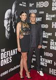 Liberty Ross e Jimmy Iovine immagini stock