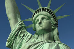 Liberty's Face. Face shot of New York's Statue of Liberty Royalty Free Stock Image