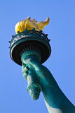 Liberty's torch. The torch of the Statue of Liberty, NYC, NY royalty free stock photo