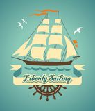 Liberty sailing Royalty Free Stock Photo