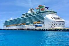 Liberty of the Seas, Royal Caribbean. Liberty of the Seas cruise ship docked in Costa Maya, Mexico, Royal Caribbean stock images